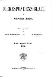 Jahrgang des Correspondenz-blattes für Schweizer Aerzte: Volume14