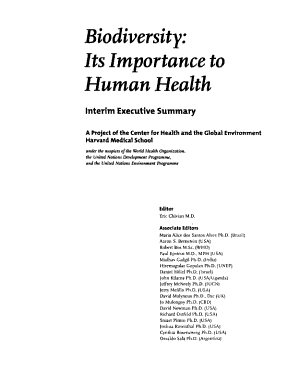 Biodiversity  Its Importance to Human Health PDF
