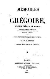 Mémoires de Grégoire: ancien évêque de Blois [...], Volume2