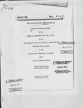 First Interim Report of the Special Commission Relative to the Feasibility of Including a Provision for Bicycle Paths in the Design of Federally Aided and State Aided Roads  under Chapter 43 of the Resolves of 1974   PDF
