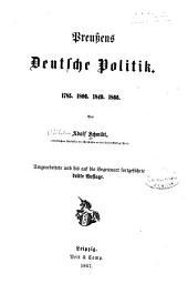 Preußens deutsche Politik: 1785, 1806, 1849, 1866