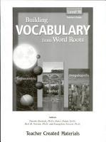 Building Vocabulary  Level 10 Kit PDF