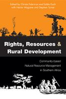 Rights  Resources and Rural Development PDF