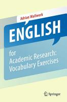 English for Academic Research  Vocabulary Exercises PDF