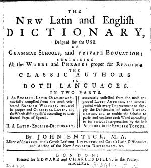 The New Latin and English Dictionary PDF