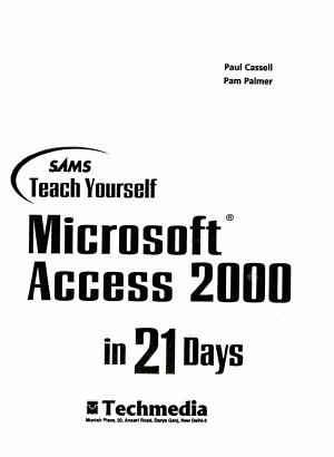Sams Teach Yourself Microsoft Access 2000 in 21 Days PDF