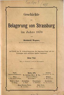 Geschichte der Belagerung von Strassburg im Jahre 18700 PDF