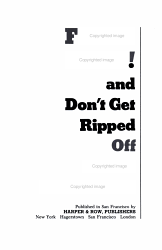 Fight Back  And Don t Get Ripped Off PDF
