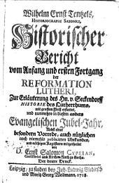 Historischer Bericht vom Anfang und ersten Fortgang der Ref. Lutheri