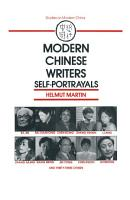 Modern Chinese Writers  Self portrayals PDF