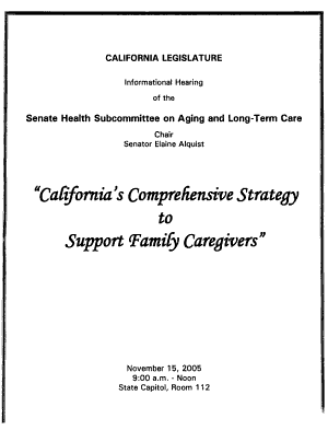 California s Comprehensive Strategy to Support Family Caregivers PDF