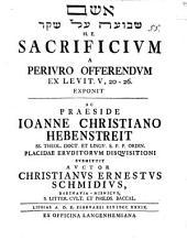 Sacrificium a periuro offerendum
