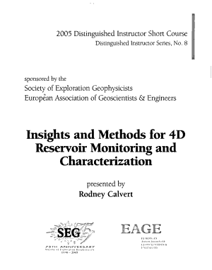 Insights and Methods for 4D Reservoir Monitoring and Characterization PDF