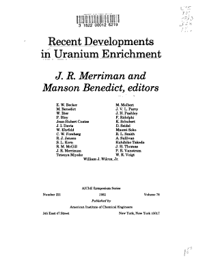 Recent Developments in Uranium Enrichment PDF