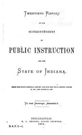 Report of the Superintendent of Public Instruction for the State of Indiana