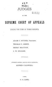 Reports of Cases Argued and Determined in the Supreme Court of Appeals of West Virginia: Volume 32