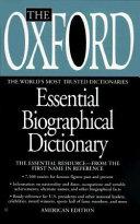 The Oxford Essential Biographical Dictionary PDF