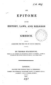 An epitome of the history, laws, and religion of Greece