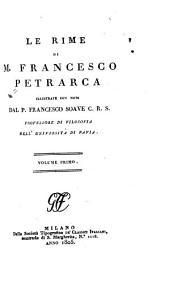 Le rime di M. Francesco Petrarca: Volume 2