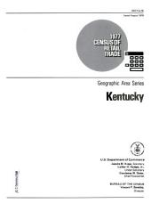 1977 Census of Retail Trade: Geographic Area Series, Kentucky, Volume 3
