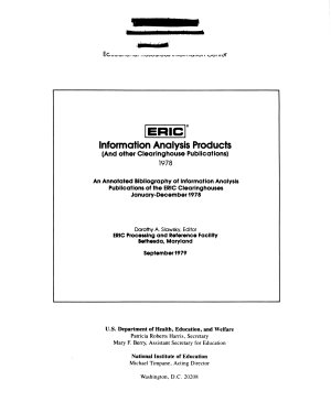 ERIC Information Analysis Products PDF