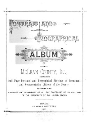Portrait and Biographical Album of McLean County  Ill PDF
