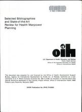Selected Bibliographies and State of the art Review for Health Manpower Planning PDF