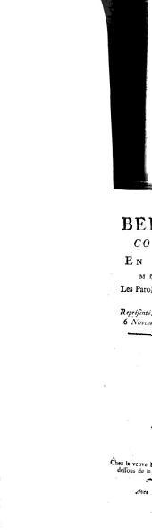 La Belle Arsène: Comédie-Feerie En Quatre Actes, Mêlée D'Ariettes