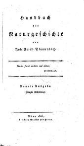 Handbuch der Naturgeschichte: Band 2