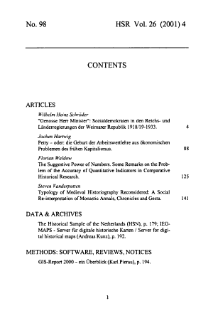 Historical Social Research PDF