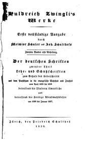 Huldrici Zuinglii opera: Completa editio prima curantibus Melchiore Schulero et Io.Schulthessio ...