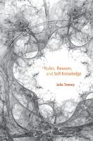 Rules  Reason  and Self Knowledge PDF