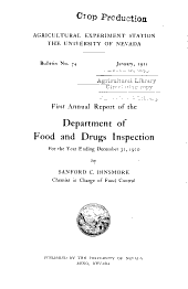 First annual report of the Department of Food and Drugs Inspection for the year ending December 31, 1910: Volumes 72-79