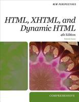 New Perspectives on HTML  XHTML  and Dynamic HTML  Comprehensive PDF