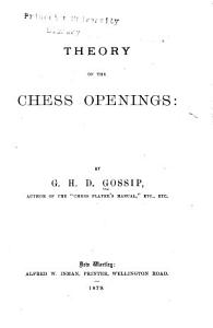 Theory of the Chess Openings PDF