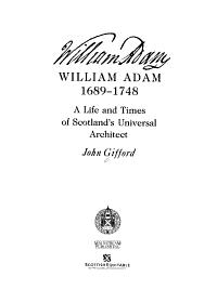 William Adam  1689 1748 PDF