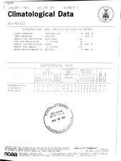 Climatological Data: New Mexico, Volume 85
