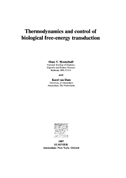 Thermodynamics and Control of Biological Free energy Transduction PDF