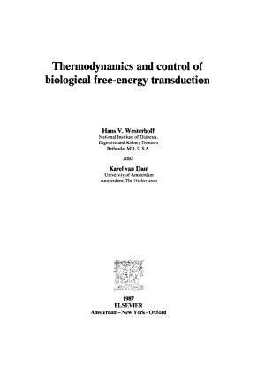 Thermodynamics and Control of Biological Free energy Transduction