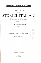Rerum italicarum scriptores: Volume 11,Parte 1