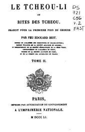 Le Tcheou-li: ou, Rites des Tcheou, Volume2