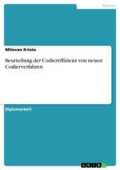 Beurteilung der Codiereffizienz von neuen Codierverfahren