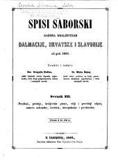 Saborski spisi Sabora Kraljevinah Dalmacije, Hrvatske i Slavonije