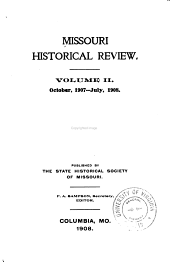 Missouri Historical Review: Volume 2