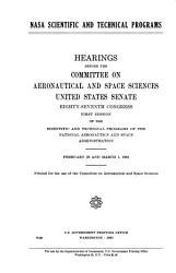 NASA Scientific and Technical Programs PDF
