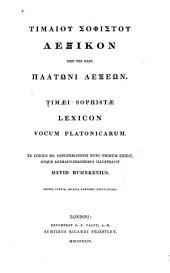 Lexicon vocum Platonicarum