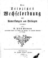 Die Leipziger Wechselordnung