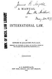 A Manual of International Law