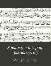 Sonate (en mi) pour piano, op. 63