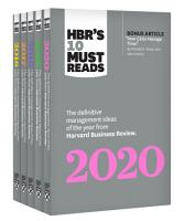 5 Years of Must Reads from HBR  2020 Edition  5 Books  PDF